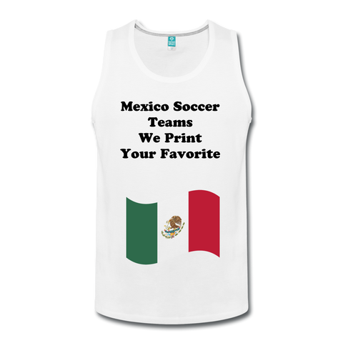 Your Favorite Mexico Soccer Team Custom Tank Top - white