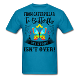 My Story Isn't Over Men's Custom  T-Shirt - turquoise