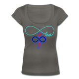 THE iNfinite Love Women's Scoop Neck T-Shirt - charcoal