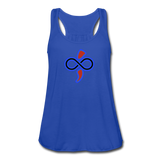 Women's Flowy Tank Top by The Infinite Intel - royal blue