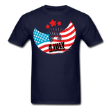 4th of July Independence Day Celebration Custom T-Shirts - navy