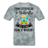 My Story Isn't Over Men's Custom  T-Shirt - grey tie dye