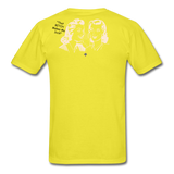 That BITCH Talking Behind My Back Custom T-Shirts for Men & Women - yellow