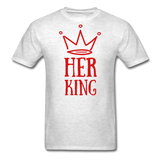 Custom T-Shirts Her King - light heather grey
