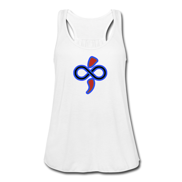 Women's Flowy Tank Top by The Infinite Intel - white