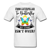 My Story Isn't Over Men's Custom  T-Shirt - white