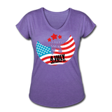 American Pride 4th of July Custom Inked T-Shirt - purple heather