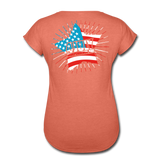 American Pride 4th of July Custom Inked T-Shirt - heather bronze