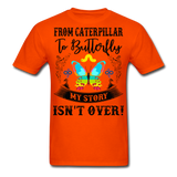 My Story Isn't Over Men's Custom  T-Shirt - orange