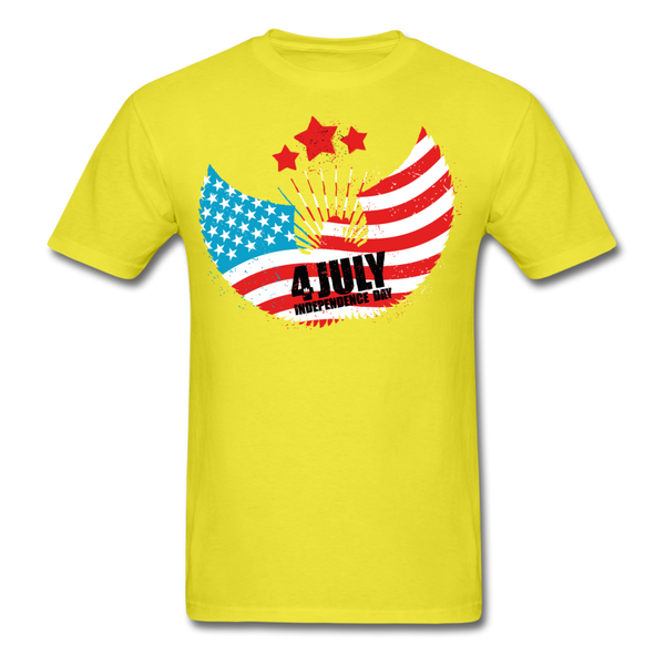 4th of July Independence Day Celebration Custom T-Shirts - yellow