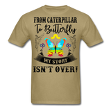 My Story Isn't Over Men's Custom  T-Shirt - khaki