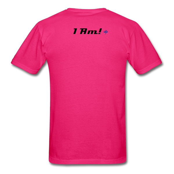 Work In Progress, I Am Men's Custom T-Shirt - fuchsia
