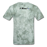 Work In Progress, I Am Men's Custom T-Shirt - military green tie dye