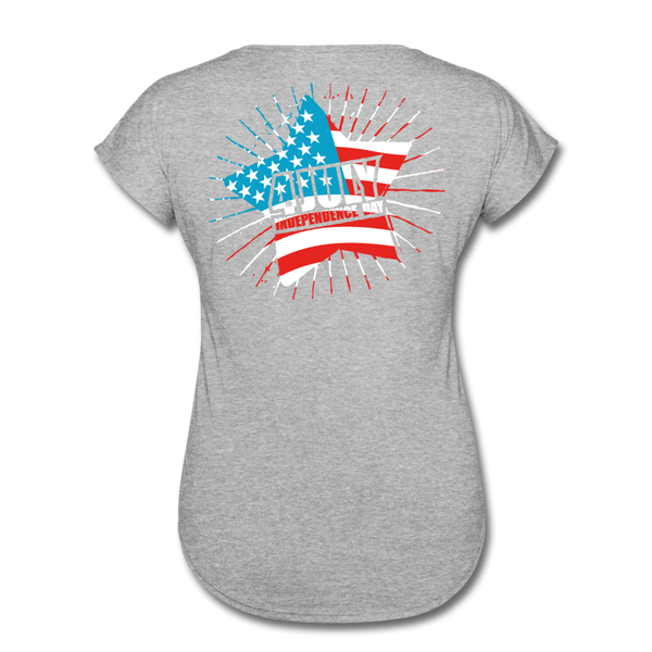 American Pride 4th of July Custom Inked T-Shirt - heather gray