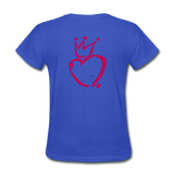 His Queen Custom Women's T-Shirt - royal blue