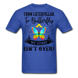 My Story Isn't Over Men's Custom  T-Shirt - royal blue