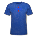 THE iNfinite Love Sologan Tie-Die T-Shirt - mineral royal