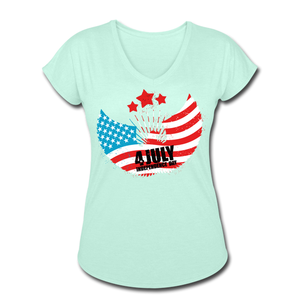 American Pride 4th of July Custom Inked T-Shirt - mint