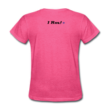 Work In Progress, I Am Women's Custom T-Shirts - heather pink