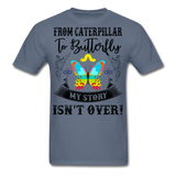 My Story Isn't Over Men's Custom  T-Shirt - denim