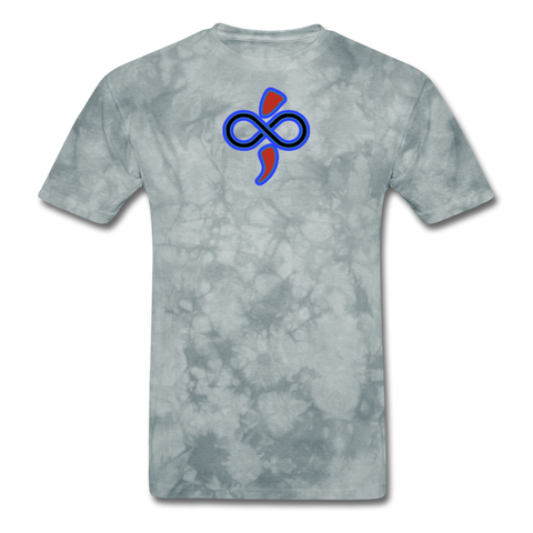 THE iNfinite Love Sologan Tie-Die T-Shirt - grey tie dye