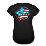 American Pride 4th of July Custom Inked T-Shirt - black