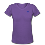 Women's V-Neck T-Shirt - purple