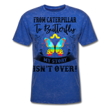 My Story Isn't Over Men's Custom  T-Shirt - mineral royal