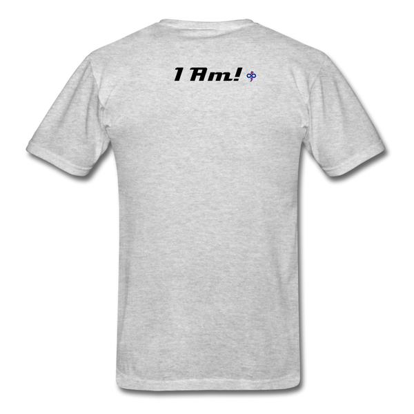 Work In Progress, I Am Men's Custom T-Shirt - heather gray