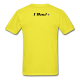 Work In Progress, I Am Men's Custom T-Shirt - yellow