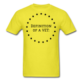 Definition Of A VET - yellow