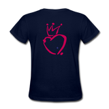 His Queen Custom Women's T-Shirt - navy