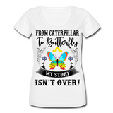 My Story Isn't Over Women's Scoop Neck T-Shirt - white