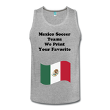 Your Favorite Mexico Soccer Team Custom Tank Top - heather gray