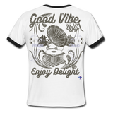 Men's Ringer T-Shirt Chillin In The Vortex Custom Classic - white/black