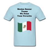 Mexico Soccer Shirts - powder blue
