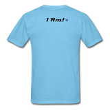 Work In Progress, I Am Men's Custom T-Shirt - aquatic blue