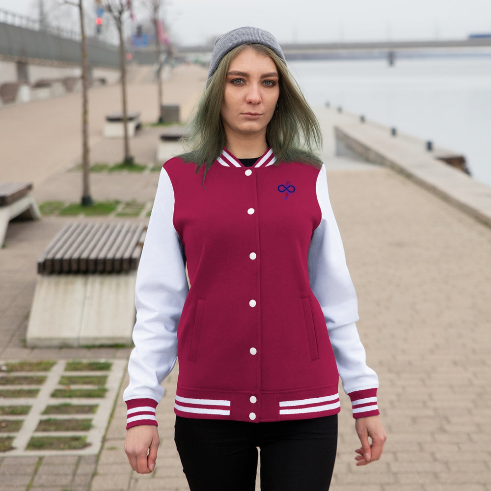 Custom Designed Logo Embroidered Women's Varsity Jacket