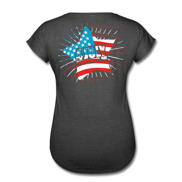 American Pride 4th of July Custom Inked T-Shirt - deep heather