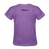 Work In Progress, I Am Women's Custom T-Shirts - purple heather