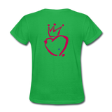 His Queen Custom Women's T-Shirt - bright green