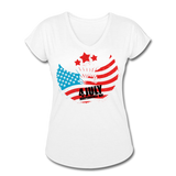 American Pride 4th of July Custom Inked T-Shirt - white