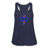 Women's Flowy Tank Top by The Infinite Intel - navy