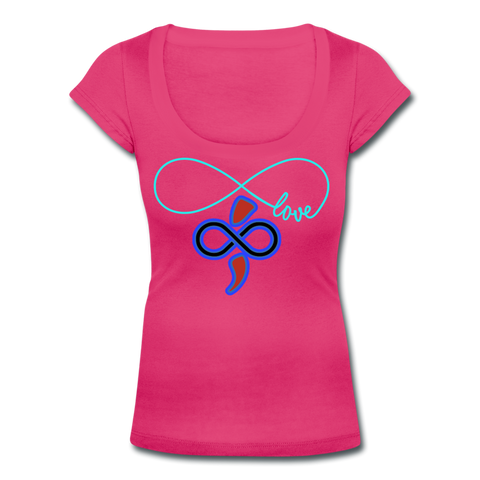 THE iNfinite Love Women's Scoop Neck T-Shirt - hot pink