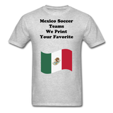 Mexico Soccer Shirts - heather gray