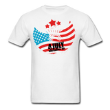 4th of July Independence Day Celebration Custom T-Shirts - white
