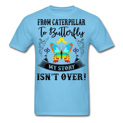 My Story Isn't Over Men's Custom  T-Shirt - aquatic blue