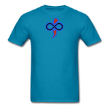 THE iNfinite Love Sologan Tie-Die T-Shirt - turquoise