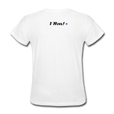 Work In Progress, I Am Women's Custom T-Shirts - white