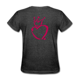 His Queen Custom Women's T-Shirt - heather black